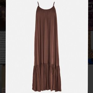 Missguided Strappy Parachute Beach Dress (brown)